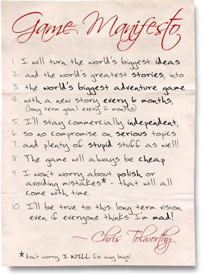 Game Manifesto