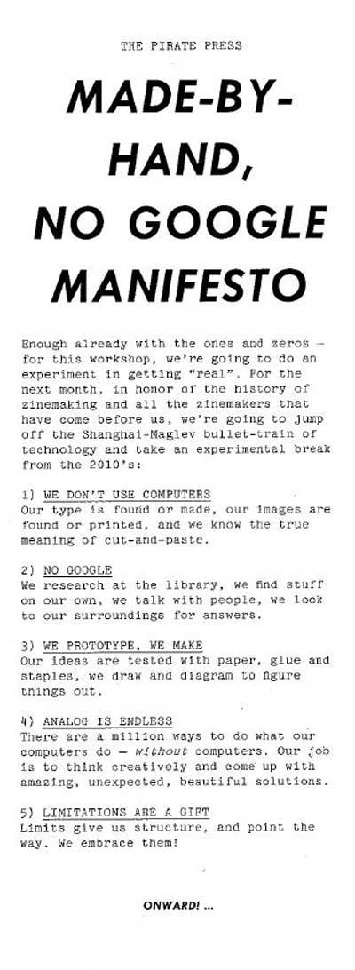 No Google Manifesto