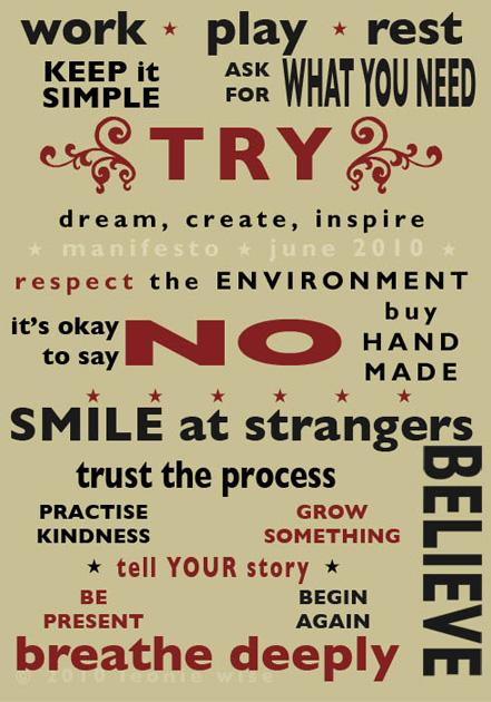Leonie Wise Manifesto