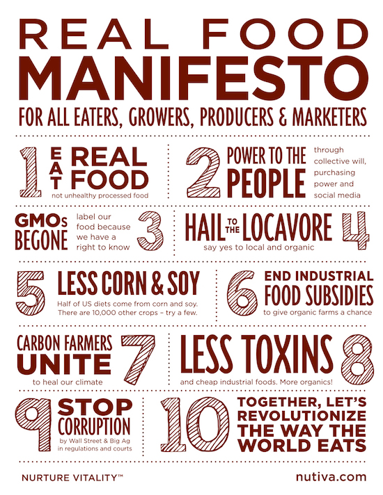 Nutiva Real Food Manifesto