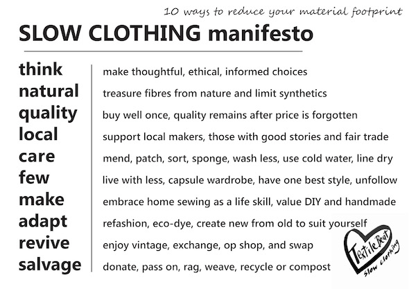 The Slow Clothing Manifesto - TextileBeat.com